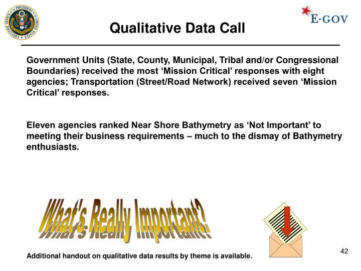 Qualitative Data Call