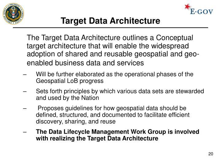 Target Data Architecture