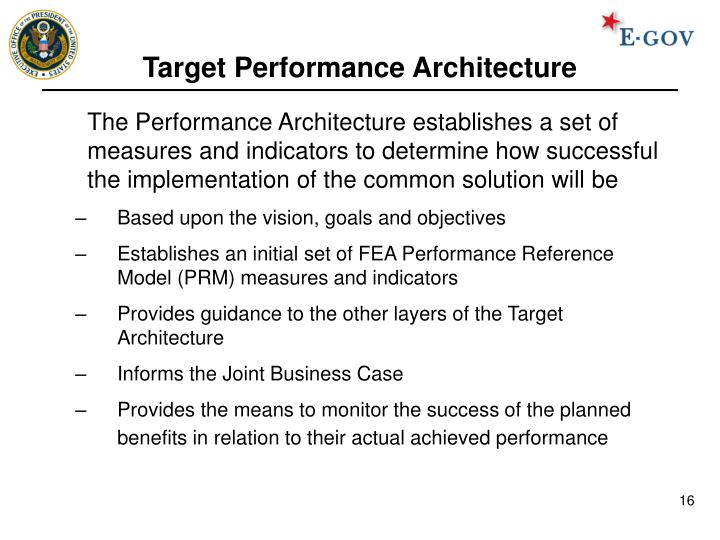 Target Performance Architecture
