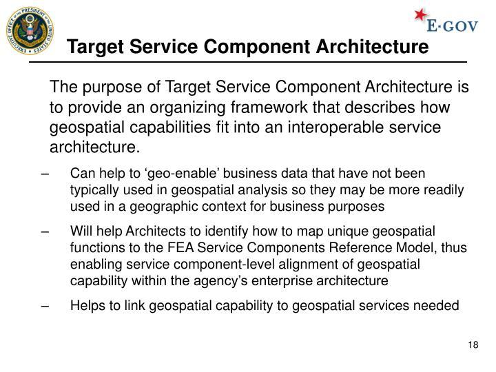 Target Service Component Architecture