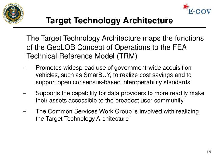 Target Technology Architecture