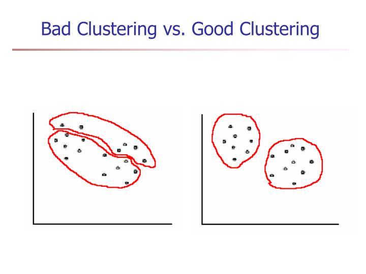 Bad Clustering vs. Good Clustering