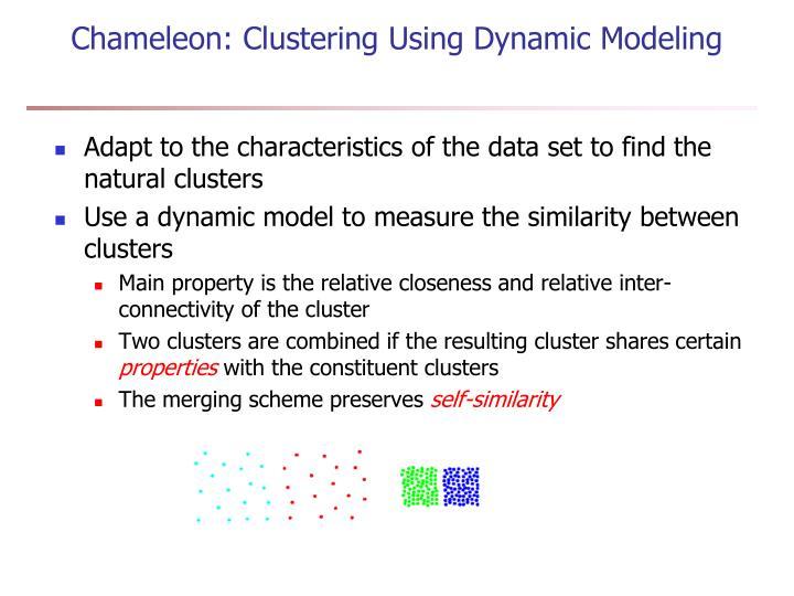 Chameleon: Clustering Using Dynamic Modeling