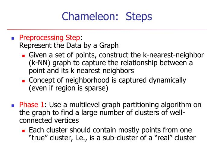 Chameleon:  Steps