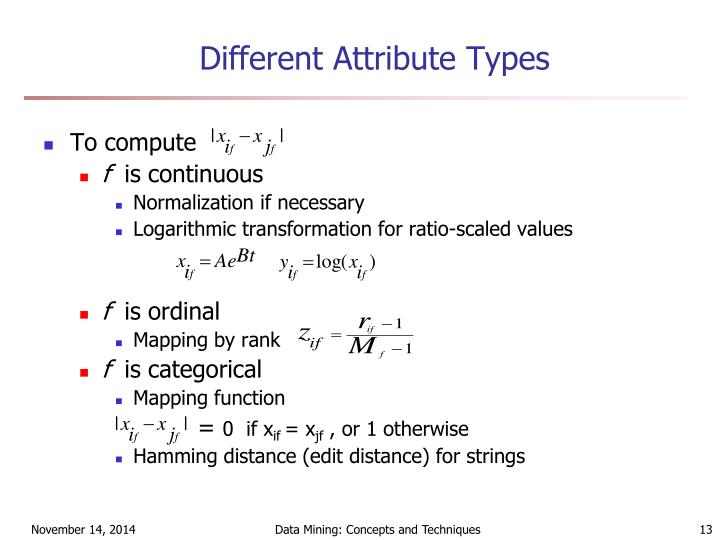 Different Attribute Types
