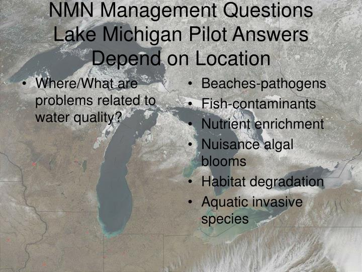 Where/What are problems related to water quality?