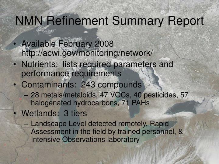 NMN Refinement Summary Report