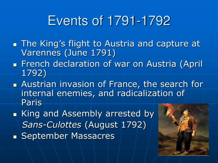 Events of 1791-1792