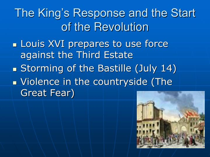 The King's Response and the Start of the Revolution