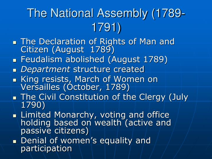 The National Assembly (1789-1791)