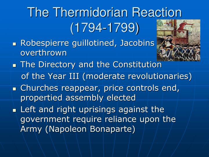 The Thermidorian Reaction (1794-1799)