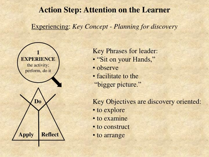 Action Step: Attention on the Learner
