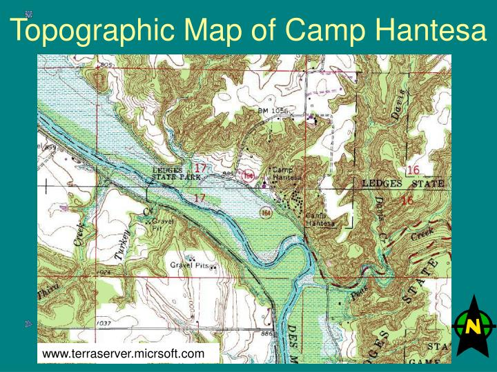 Topographic Map of Camp Hantesa