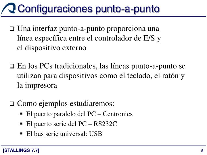 Configuraciones punto-a-punto