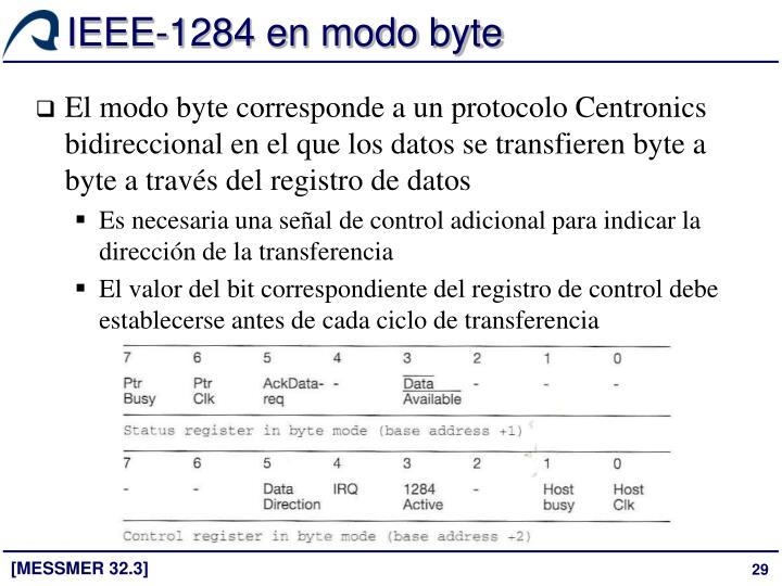IEEE-1284 en modo byte