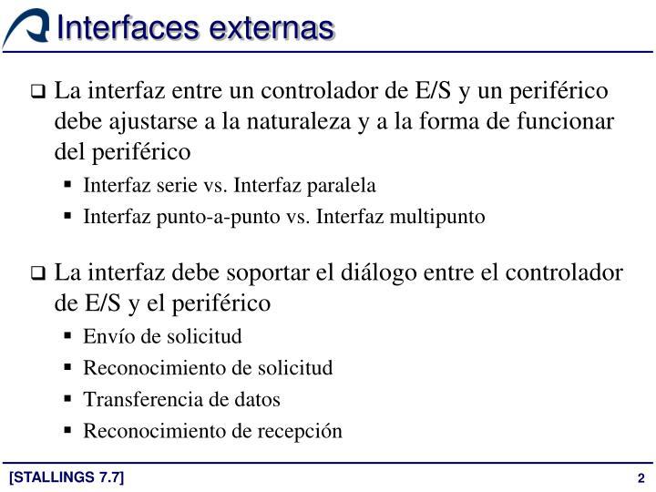 Interfaces externas