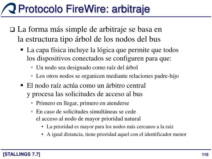 Protocolo FireWire: arbitraje