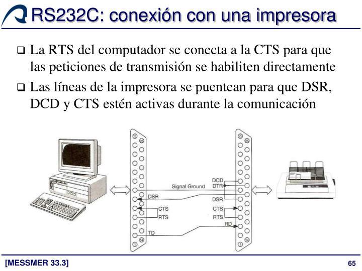 RS232C: conexión con una impresora