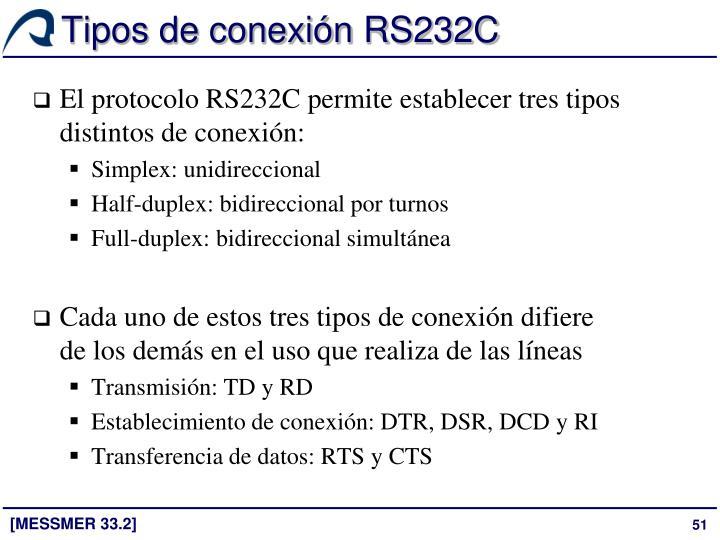 Tipos de conexión RS232C