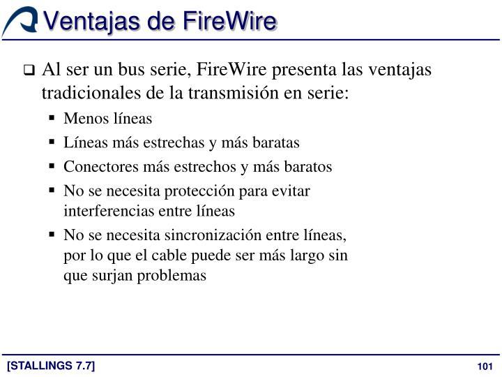 Ventajas de FireWire