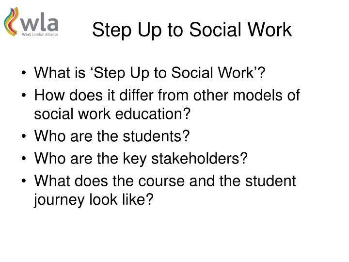 Step Up to Social Work