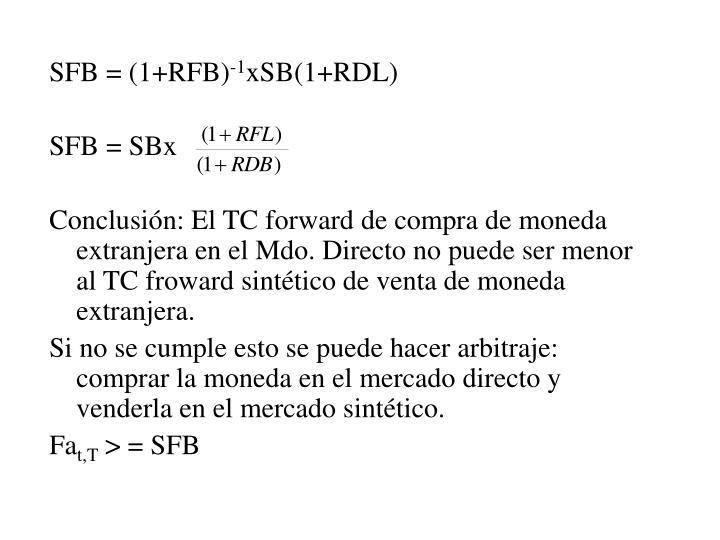 SFB = (1+RFB)
