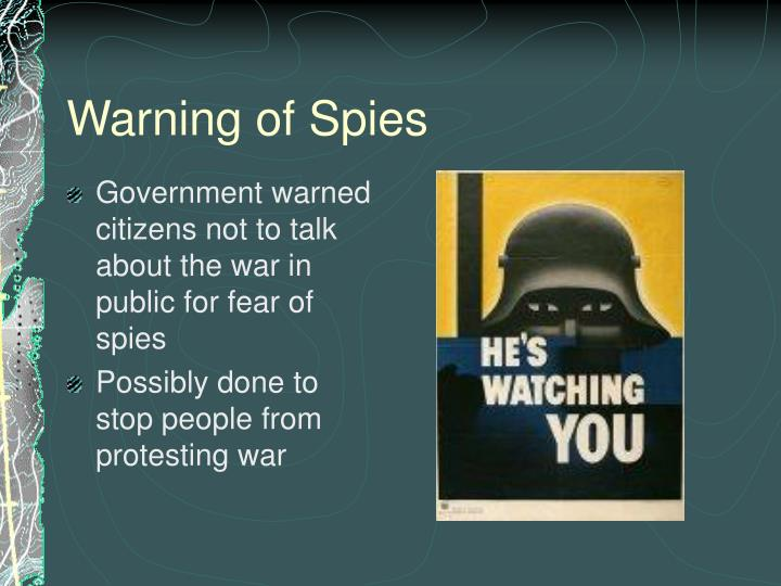 Warning of Spies