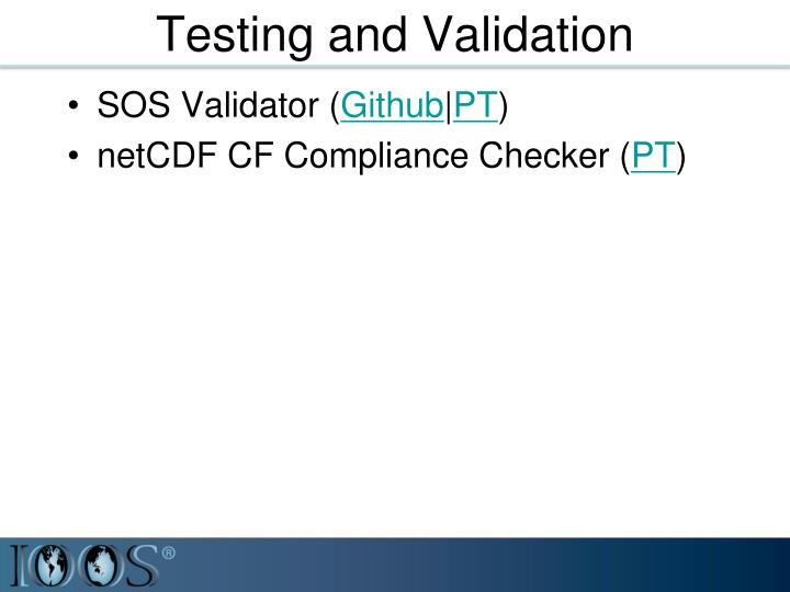 Testing and Validation