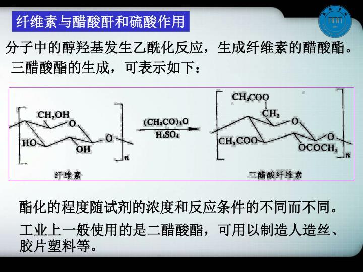 纤维素与醋酸酐和硫酸作用
