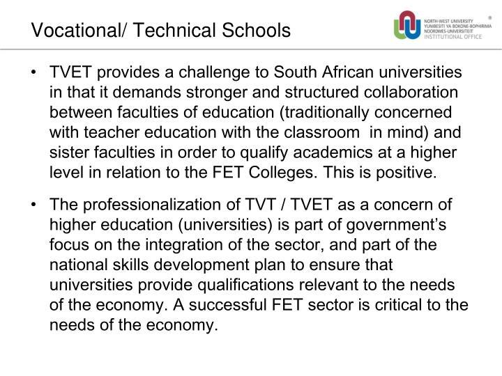 Vocational/ Technical Schools