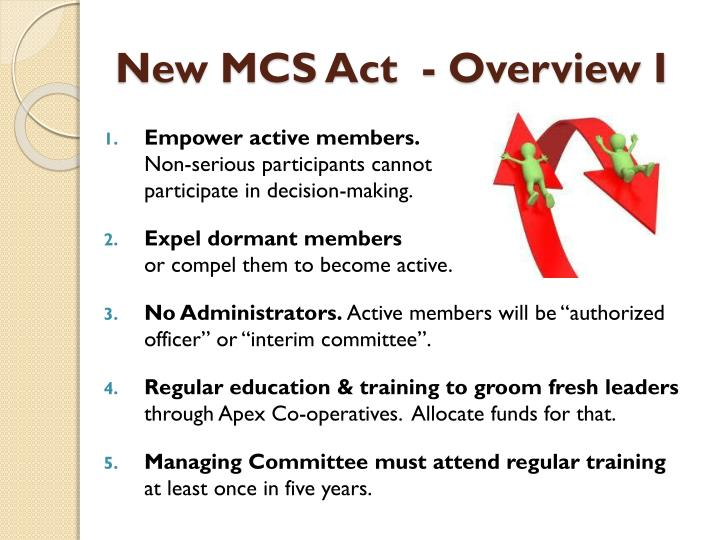 New MCS Act  - Overview I