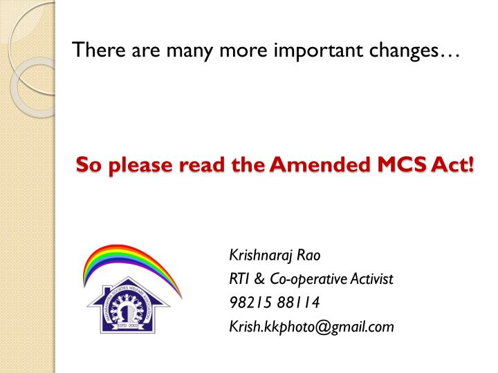 So please read the Amended MCS Act!