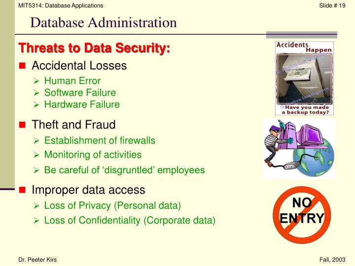 Threats to Data Security: