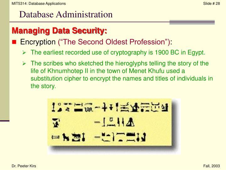 Managing Data Security: