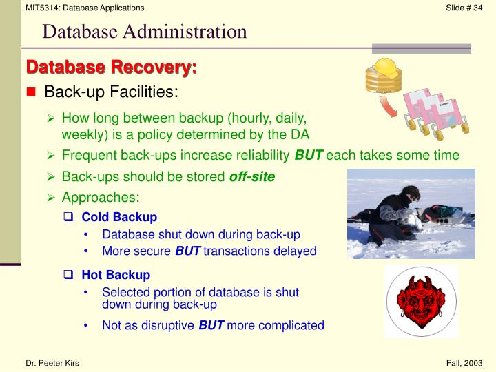 Database Recovery: