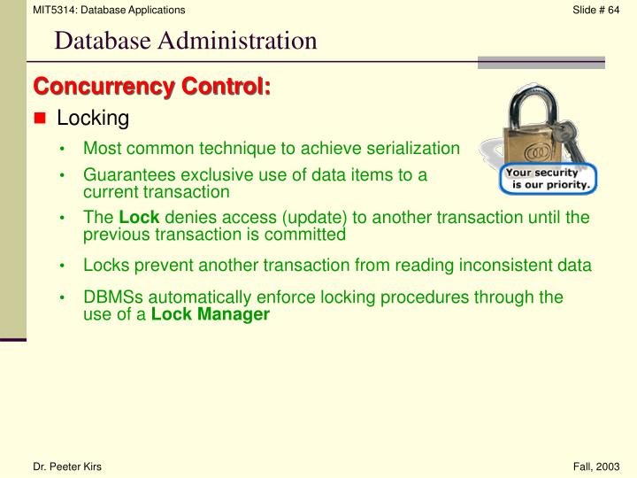 Concurrency Control: