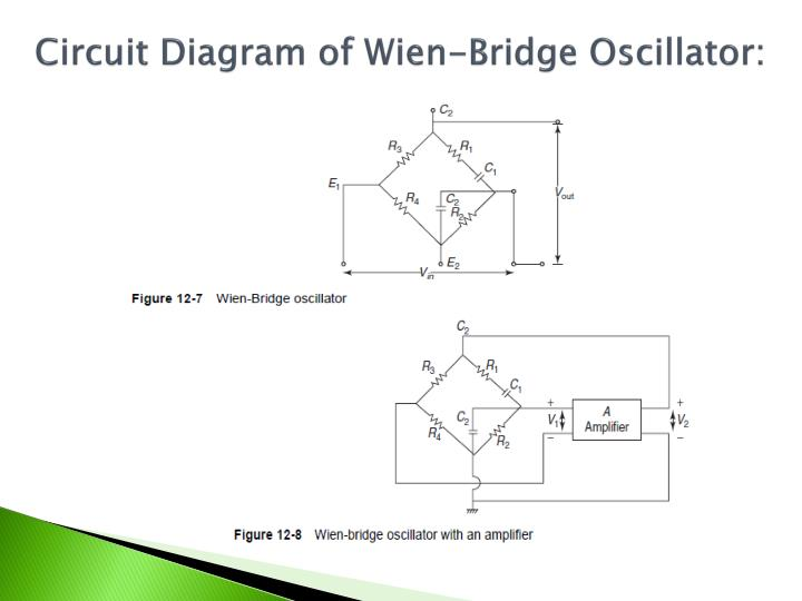 Circuit Diagram of Wien-Bridge Oscillator: