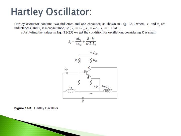 Hartley Oscillator: