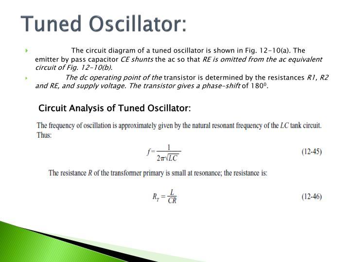 Tuned Oscillator: