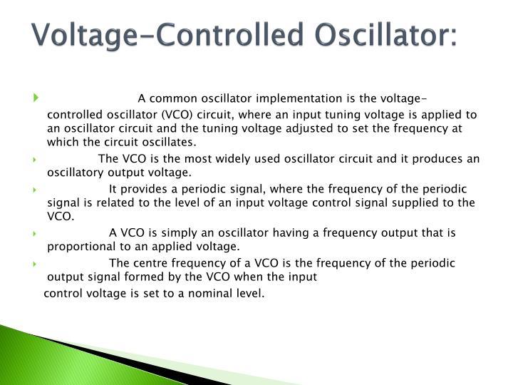 Voltage-Controlled Oscillator: