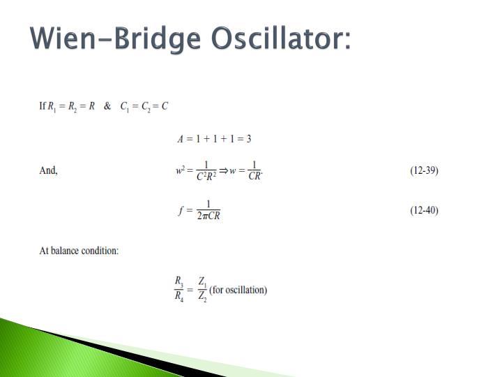 Wien-Bridge Oscillator: