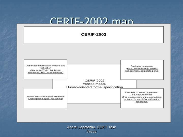 CERIF-2002 map