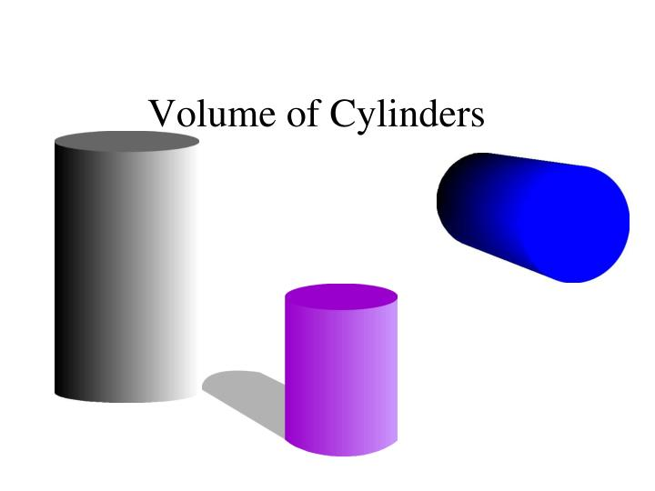 Volume of cylinders
