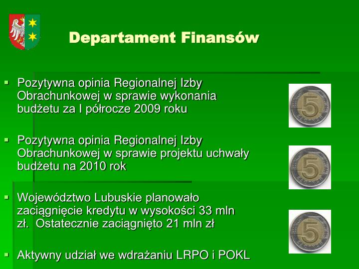 Departament Finansów