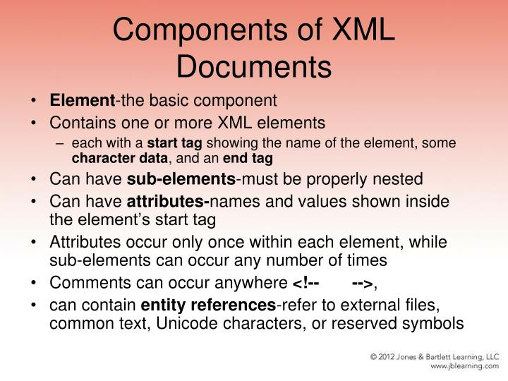 Components of XML Documents