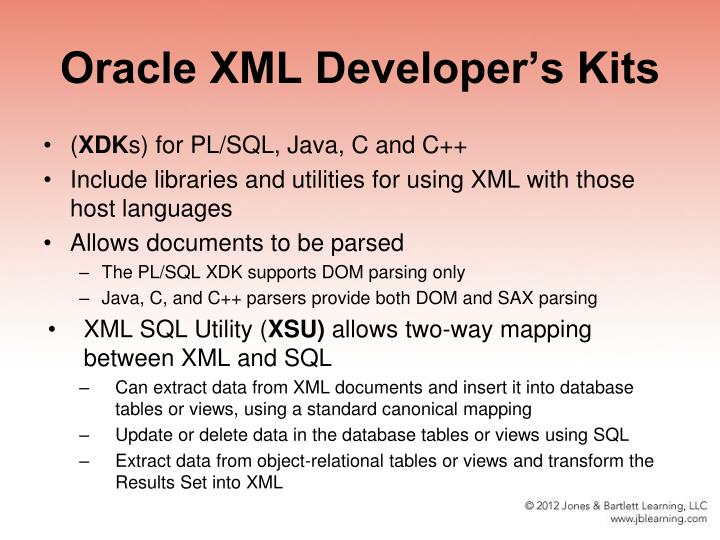 Oracle XML Developer's Kits