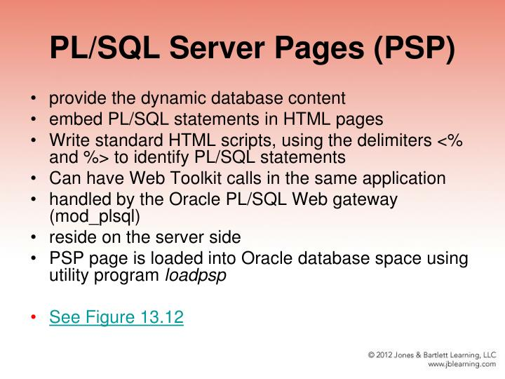 PL/SQL Server Pages (PSP)
