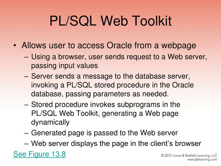 PL/SQL Web Toolkit