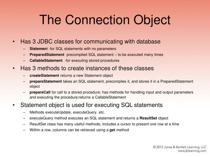 The Connection Object
