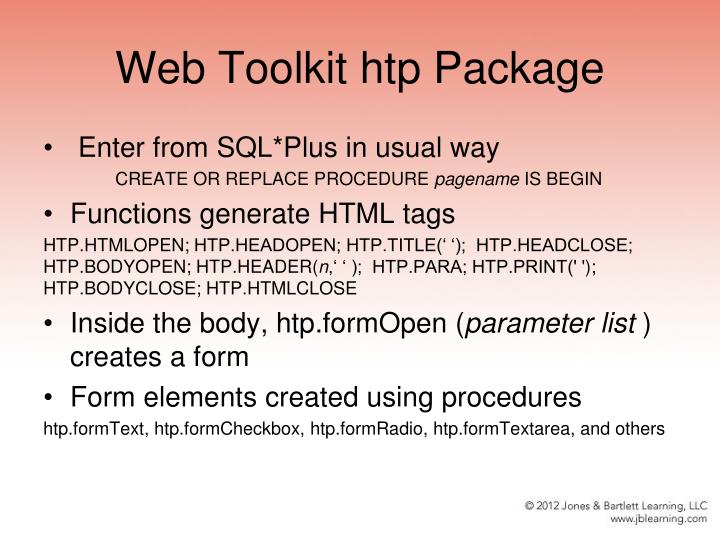 Web Toolkit htp Package